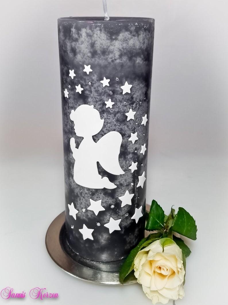 Gedenkkerze Rustik Sternenkind mit Sternenschweif für nur 15,00€