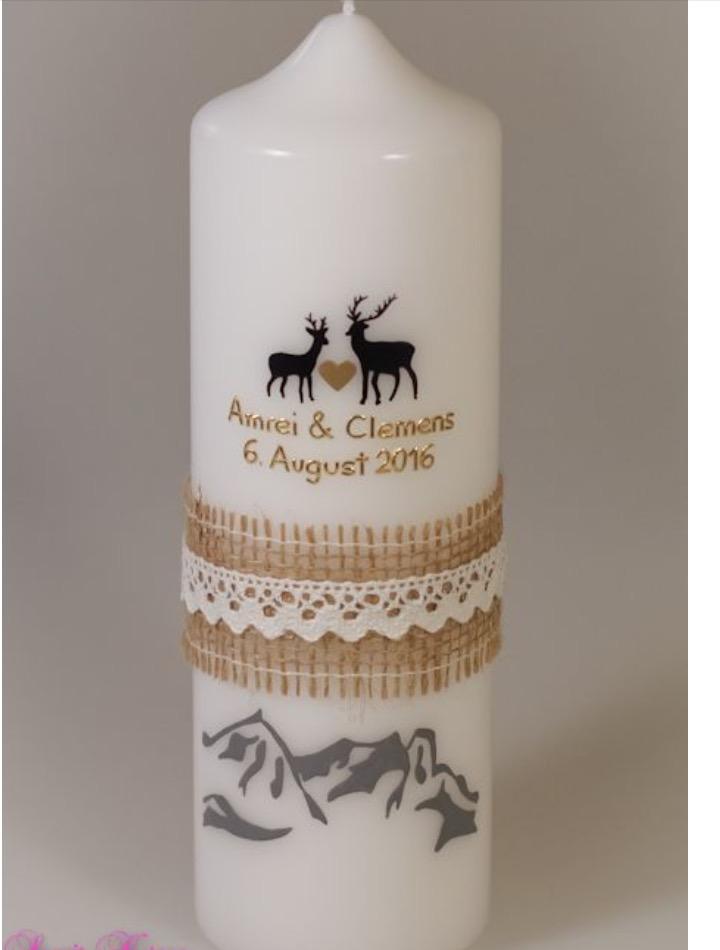 """Hochzeitskerze """"Berglandschaft"""" in der Farbe weiß  für nur  37,00€"""