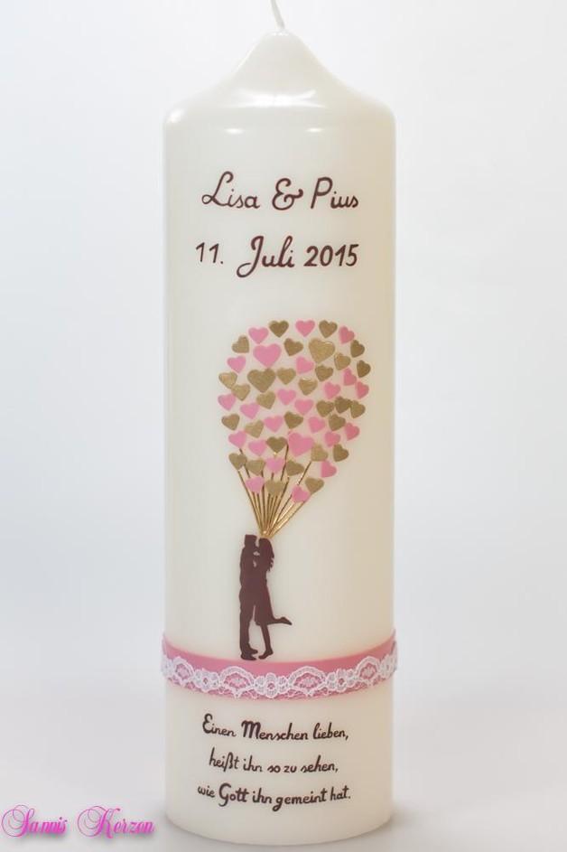 """Hochzeitskerze """"Luftballons"""" wollweiß für nur  41,36€"""