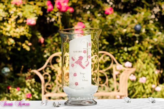 Windlichtset klein - Glasgranulat + Perlen für nur  18,00€