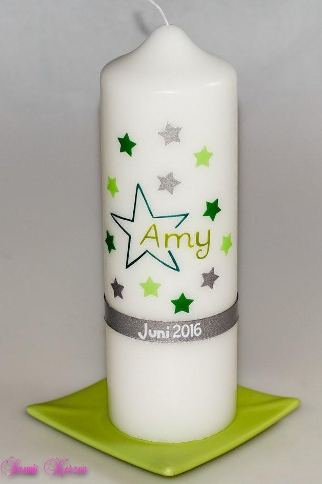 Gedenkkerze Sternenkind groß in der Farbe weiß  für nur  25,00€