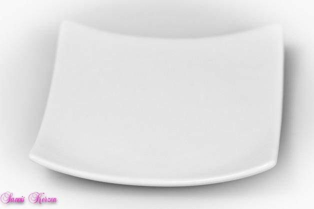 NUR für runde Stumpenkerzen kleiner eckiger Teller
