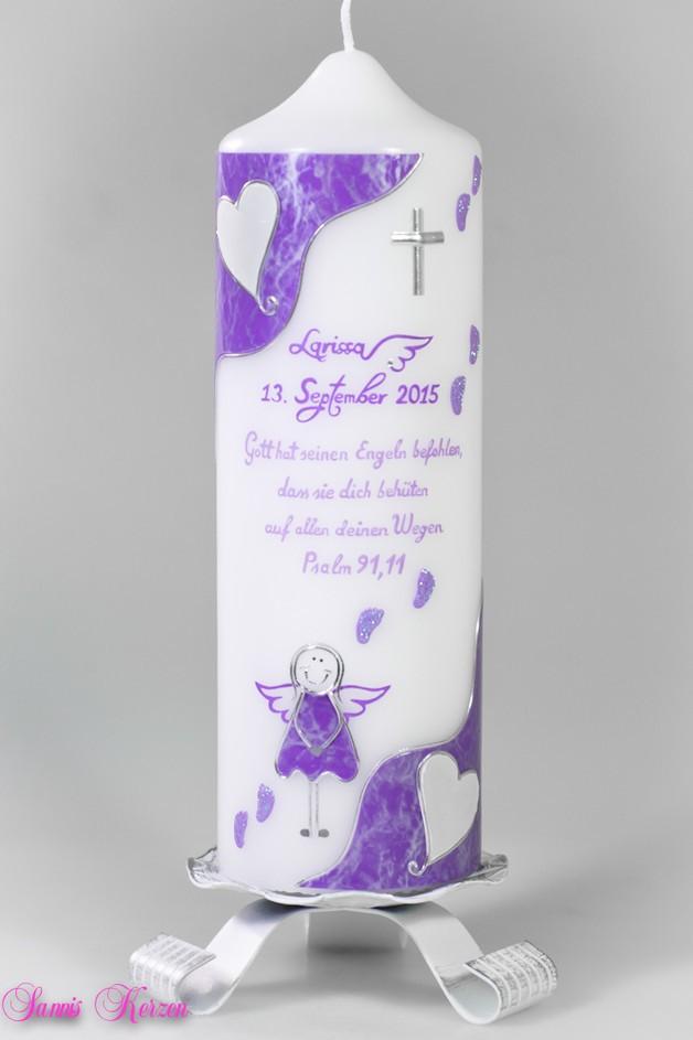 /Taufkerze Engel mit Fußspuren von weiß für nur 34,86€