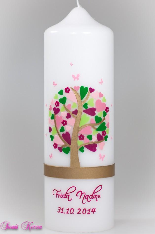 /Taufkerze Herzbaum von weiß for 45,36€