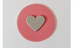 freie Farbwahl großer Wachs-Kreis mit Herz