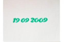 freie Farbwahl Wachs-Zahlen einfarbig