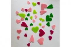 freie Farbwahl 40 Wachs-Herzen 5 Farben Mix