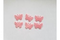 freie Farbwahl 6 Wachs-Schmetterlinge klein