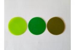 freie Farbwahl große Wachs-Kreise 3-farbig