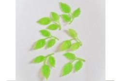 6 Wachs-Zweige Blätter mit Struktur