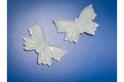 freie Farbwahl 2 Wachs-Schmetterlinge groß
