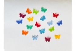 Regenbogen 18 Wachs-Schmetterlinge klein