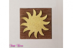 freie Farbwahl Wachs-Quadrat mit Sonne