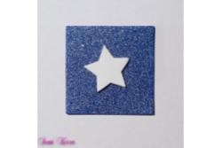 freie Farbwahl Wachs-Quadrat mit Stern