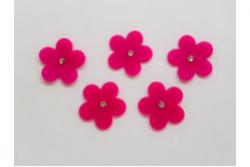freie Farbwahl 5 Strass Wachs-Blüten groß