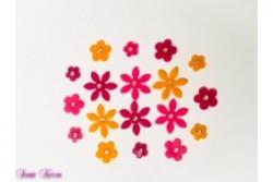 freie Farbwahl 18 Strass Wachs-Blüten 3 Farben Mix