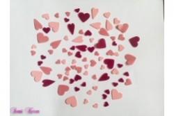 freie Farbwahl 87 Wachs-Herzen 3 Farben Mix