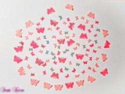 freie Farbwahl 6 kleine Wachs-Schmetterlinge