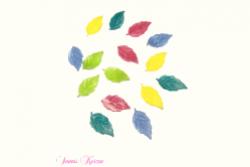 freie Farbwahl 15 Wachs-Blätter 5 Farben Mix