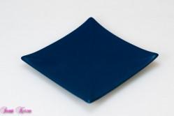 eckiger Keramikteller nachtblau