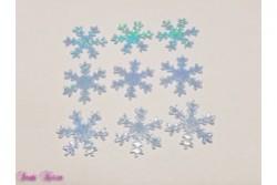 freie Farbwahl 9 Wachs-Schneeflocken