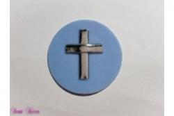 freie Farbwahl großer Wachs-Kreis mit Kreuz