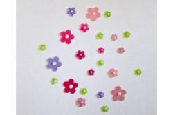 freie Farbwahl 24 Perl Wachs-Blüten 6 Farben Mix