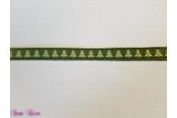 1m Dekoband Tannenbaum grün 16mm breit