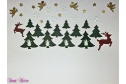 "DIY 37 tlg. Bastelset Adventskranzkerzen ""Weihnachtslandschaft"""