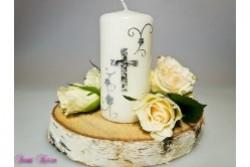 kleine Gedenkkerze Kreuz