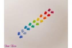 Regenbogen Wachs-Hände