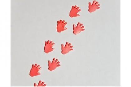 freie Farbwahl Wachs-Hände