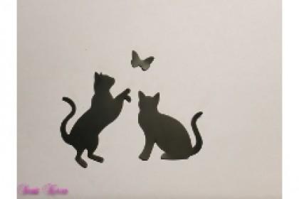 freie Farbwahl Wachs-Katzen